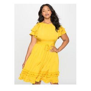 🎉Host Pick🎉 Eloquii Ruffles and Pintuck Dress